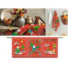 Набор вафельных полотенец Новогодний бычок 3шт